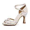 Χαμηλού Κόστους Παπούτσια χορού λάτιν-Γυναικεία Παπούτσια Χορού Φο Δέρμα Παπούτσια χορού λάτιν Τακούνια Τακούνι καμπάνα Εξατομικευμένο Δερματί / Επίδοση / Εξάσκηση