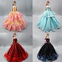 Χαμηλού Κόστους Κούκλες σαν αληθινές-Φόρεμα κούκλα Πάρτι / Απόγευμα Για Barbie Δαντέλα Organza Φόρεμα Για Κορίτσια κούκλα παιχνιδιών