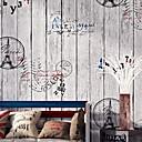 Χαμηλού Κόστους Τοιχογραφία-ταπετσαρία Nonwoven Κάλυψης τοίχων - κόλλα που απαιτείται Ξύλο
