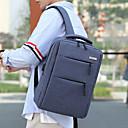 זול תיקי בית ספר-בולמי זעזועים ניילון רוכסן תיק לבית הספר צבע אחיד משרד קריירה שחור אפור / פול / אפור