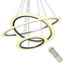 billige Ekspansjonskort-moderne led anheng lys for kjøkken spisestue oppheng armatur akryl tak lysekroner hengende hvitt sølv soverom anheng lampe 110-120v / 220-240v