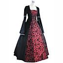 ราคาถูก อุปกรณ์ประดับผม-เจ้าหญิง Maria Antonietta สไตล์ลอรัล Rococo Victorian Renaissance หนึ่งชิ้น ชุดเดรส Party Costume Masquerade สำหรับผู้หญิง ลูกไม้ เครื่องแต่งกาย แดง+ดำ Vintage คอสเพลย์ คริสมาสต์ Halloween
