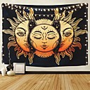 cheap Wall Tapestries-Psychedelic Tapestry Indian Moon and Sun with Many Fractal Faces Tapestry Celestial Energy Mystic Tapestries Wall Hanging Tapestry for Bedroom Living Room Dorm