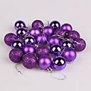 baratos Brincos-Decorações de férias Ano Novo Objetos de decoração Decorativa Roxo / Vermelho / Rosa claro 1pç