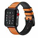 billige Smartwatch Bands-ekte skinnløkke klesrem til Apple Watch-bandet 44mm / 40mm / 42mm / 38mm for Iwatch Band Sportsespenne 1/2/3/4