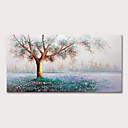 Χαμηλού Κόστους Αφηρημένοι Πίνακες-Hang-ζωγραφισμένα ελαιογραφία Ζωγραφισμένα στο χέρι - Άνθινο / Βοτανικό Αφηρημένο Τοπίο Μοντέρνα Χωρίς Εσωτερικό Πλαίσιο