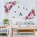 billige 3D gardiner-blomstrende blomster vegg klistremerker - ord&ampamp citerer vegg klistremerker tegn studere rom / kontor / spisestue / kjøkken