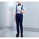 זול אקזוטי Dancewear-נייבי כהה פוליאסטר חליפה לנושא הטבעת  - 1set כולל עליון / Pants / עניבת פרפר