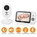 billige Baby Monitorer-didseth 0,3 mp trådløs video babymonitor cmos / mikro / ptz pan og vipp 131 ° automatisk infrarødt nattsynsområde 5 m 2,4ghz skjermoppløsning 640x480 innebygd melodisang
