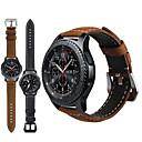 billiga Moderingar-äkta läder retro armbandsur armband band watch band för Samsung Galaxy Watch 46mm / redskap s3 Classic / gräns Smart Watch