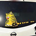 billige Automotive Kroppsdekorasjon og beskyttelse-tegneserie morsomme katt flyttende hale bil klistremerker reflekterende vinyl bil vindusvisker dekaler