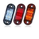 baratos Luzes de Circulação Diurna-Sencart 2 pcs 12 v 24 v âmbar amarelo branco vermelho dsside luz led marcador reboque caminhão turno apuramento lâmpada