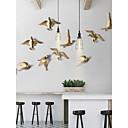 זול עיצוב וקישוט לקיר-ציפור קיר תפאורה חומר מיוחד חיות / פסטורלי וול ארט, אומנות קיר ממתכת / וול סימנים תַפאוּרָה