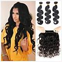 זול תוספות משיער אנושי-6 צרורות שיער ברזיאלי Body Wave שיער בתולי טווה שיער אדם שיער Bundle פתרון חפיסה אחת 8-28 אִינְטשׁ צבע טבעי שוזרת שיער אנושי ללא ריח סקסי ליידי עבה תוספות שיער אדם