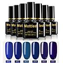 billige Neglelakk og gellakk-6 stk. Farge 61-66 flekkfargede UV / led gel neglelakk