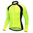 Χαμηλού Κόστους Γάντια-WOSAWE Ανδρικά Γυναικεία Μακρυμάνικο Φανέλα ποδηλασίας Μαύρο Πράσινο Συμπαγές Χρώμα Μεγάλα Μεγέθη Ποδήλατο Αθλητική μπλούζα Μπολύζες Αναπνέει Ύγρανση Γρήγορο Στέγνωμα Αθλητισμός 100% Πολυέστερ
