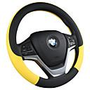 baratos Capas para Volante-cobertura de volante do carro para todas as estações para todos os homens e mulheres capa de couro anti-derrapante alça / preto / roxo / vermelho / bege / cinza / tampas de volante