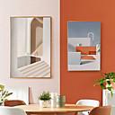billige Innrammet kunst-Innrammet Lerret Tryk - Abstrakt Polystyrene Tegning Veggkunst