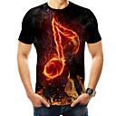 Χαμηλού Κόστους Walkie Talkie-Ανδρικά T-shirt Βασικό / Εξωγκωμένος 3D / Ουράνιο Τόξο / Γραφική Στρογγυλή Λαιμόκοψη Στάμπα Μαύρο / Κοντομάνικο