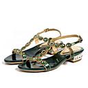 ราคาถูก รองเท้าแตะผู้หญิง-สำหรับผู้หญิง Microfibre ฤดูร้อน รองเท้าแตะ ส้นต่ำ เปิดนิ้ว หินประกาย สีม่วง / เงิน / สีเขียว