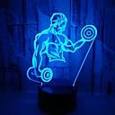 baratos Luzes da noite 3D-1pç Luz noturna 3D RGB USB Cores Variáveis / Com porta USB <5 V
