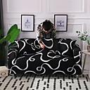 Χαμηλού Κόστους Κάλυμμα Καναπέ-slipcovers καναπέ κάλυψη βαμβάκι μίγμα / νήματα βαμμένα πολυεστέρα / μαύρο & άσπρο καμπύλη μοτίβο / κάλυμμα καναπέ