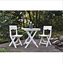 זול סטי ריהוט גינה-3 פיסת קיפול חוצות פטיו רהיטים ביסטרו להגדיר לבן