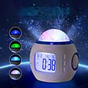 זול עוגיות כלי-1pc מקרן שמים אור / אור הלילה החכם סוללות AAA מנורת אטמוספרה / צילום אורות / שעון <=36 V