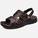 Χαμηλού Κόστους Αντρικά Πέδιλα-Ανδρικά Παπούτσια άνεσης Δερμάτινο Φθινόπωρο / Ανοιξη καλοκαίρι Βίντατζ / Καθημερινό Σανδάλια Αναπνέει Μαύρο / Καφέ