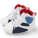זול מגפיים לילדים-בנים / בנות צעדים ראשונים PU מגפיים תינוקות (0-9m) / פעוט (9m-4ys) לבן / שחור / לבן וכחול אביב / סתיו