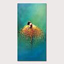 billige Abstrakte malerier-Hang malte oljemaleri Håndmalte - Mennesker Pop Kunst Moderne Inkluder indre ramme
