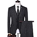 זול חליפות רטובות,חליפות צלילה וחולצות ראש-גארד-בגדי ריקוד גברים בז' כחול נייבי אפור US36 / UK36 / EU44 US38 / UK38 / EU46 US40 / UK40 / EU48 חליפות פסים דש קלאסי