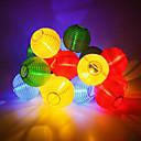 זול צעצועים מגנטיים-6m 30 פנסי רוח הוביל פנסי רוח מחרוזת אורות למסיבה / חג המולד / גן / ליל כל הקדושים / קישוט חם לבן / לבן / כחול השמש 12v 1pc