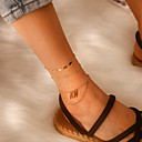 povoljno Odjeća za fitness, trčanje i jogu-Žene Gležanj Narukvica Kratka čarapa Jewelry Zlato Za Angažman Festival / 3pcs