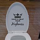 billige Veggklistremerker-kreative toalett vegg klistremerker - ord&amp amp citater vegg klistremerker tegn studere rom / kontor / spisestue / kjøkken