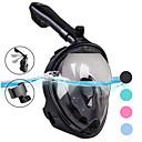 ราคาถูก อุปกรณ์ดำน้ำ-หน้ากากดำน้ำ Full Face Masks หน้าต่างเดียว - การว่ายน้ำ ซิลิโคน - สำหรับ ผู้ใหญ่ สีเขียว / 180 Degree / การรั่วไหลของหลักฐาน / ป้องกันหมอกควัน / Dry Top