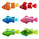 billiga Vattenleksaker-flash transparent elektronisk fisk husdjur leksak robot fisk - rosa + lila (2 x l1154)