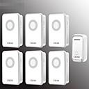 billige Trådløse ladere-trådløs dørklokke to tow fem trådløs personsøker intelligent elektronisk musikk dørklokke hjem dørklokke