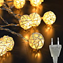Χαμηλού Κόστους Τσάντες χιαστί-3M Φώτα σε Κορδόνι 20 LEDs Θερμό Λευκό Εσωτερικό / Χαριτωμένο / Δημιουργικό 220 V 1set