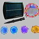 Χαμηλού Κόστους Βιβλίο και φορητοί υπολογιστές-20χιλ Φώτα σε Κορδόνι 200 LEDs Μικροδιακόπτες (Dip) LED Θερμό Λευκό / Ψυχρό Λευκό / Μπλε Ηλιακής Ενέργειας / Πάρτι / Διακοσμητικό 2 V 1pc / IP65
