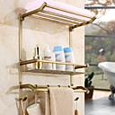 baratos Prateleiras de Banheiro-Prateleira de Banheiro Criativo Moderna Latão 1pç - Banheiro Montagem de Parede
