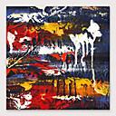 billige Abstrakte malerier-Hang malte oljemaleri Håndmalte - Abstrakt Moderne Inkluder indre ramme