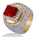 Χαμηλού Κόστους Αντρικά Δαχτυλίδια-Ανδρικά Δαχτυλίδι Συνθετικό ρουμπίνι 1pc Χρυσό Χαλκός Geometric Shape Στυλάτο Πάρτι Καθημερινά Κοσμήματα Κλασσικό Τυχερός Απίθανο