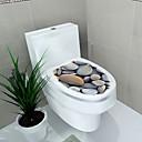 billige Veggklistremerker-32x39cm 4 farge toalett deksel vegg klistremerker nautisk 3d pvc vanntett bad decal landskap kjøkken