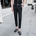 זול מכנסיים ושורטים לגברים-בגדי ריקוד גברים בסיסי חליפות / צ'ינו מכנסיים - אחיד שחור אפור כהה חאקי XL XXL XXXL