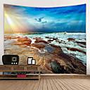 billige Wall Tapestries-Strand Tema Veggdekor 100% Polyester Middelhavet / Moderne Veggkunst, Veggtepper Dekorasjon
