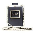 Χαμηλού Κόστους Μοδάτες Καρφίτσες-Γυναικεία Κουμπί Ακρυλικό Βραδινή τσάντα Συμπαγές Χρώμα Μαύρο / Φθινόπωρο & Χειμώνας