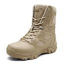 Χαμηλού Κόστους Αντρικές Μπότες-Ανδρικά Μπότες στην έρημο Δερμάτινο Φθινόπωρο & Χειμώνας Κλασσικό Μπότες Πεζοπορία Μη ολίσθηση Μπότες στη Μέση της Γάμπας Καμουφλάζ Μαύρο / Καφέ