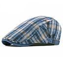 זול רכב הגוף קישוט והגנה-כל העונות פול לבן יין כובע עם שוליים רחבים פסים כותנה פשתן שנות ה-30 יוניסקס