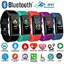 Χαμηλού Κόστους Σετ Κοσμημάτων-id115 συν έξυπνο wristband bluetooth υποστήριξη tracker υποστήριξη ειδοποίηση / καρδιακός ρυθμός παρακολουθεί αδιάβροχο σπορ smartwatch συμπιεσμένο τηλέφωνα samsung / iphone / android